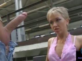 Monique Jerking Thomas Stone Huge Shaft Outdoors: Porn 33