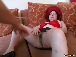 Big Titted Chubby Mature gets Her Hairy Pussy Pounded