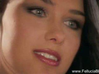 Stunning Brunette MILF Blowjob Is So Erotic