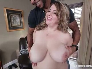 Chubby Busty Milf Gets her first taste of BBC