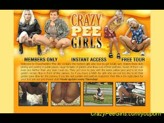 crazy girls peeing in public