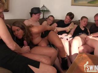 Swinger Party in Jonnys House, Free In House HD Porn 4c