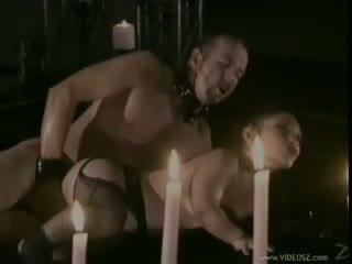 Bridget The Midget recieves a fresh load of cum on her mouth