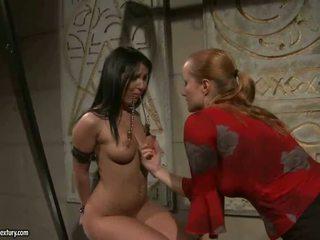 Mistress Katy Parker punishing slavegirl