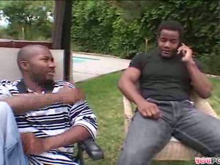 2 black guys wait for their fantasy white bitch
