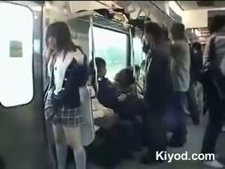 public train nude