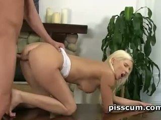 Vanessa Hell pussy smashed and mouth pissed in