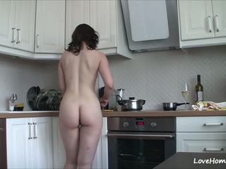 Getting Nude in the Kitchen Makes Her Happy: Free Porn b2