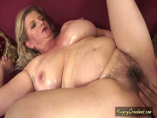 Granny In Oiled Tit Fucking