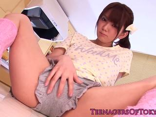 Stunning asian teen gets toyed in the extreme