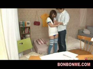 Teacher gives sex education to teen busty girl 002