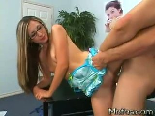 Blonde teen Brooke Bennett gets hammered hard from behind