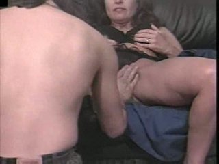 A horny mature gal bangs her young lover