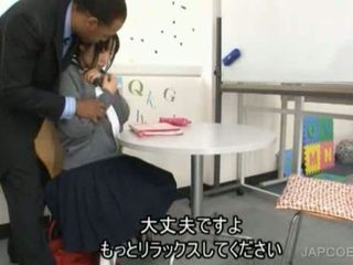 Japanese Schoolgirl Gave Handjob