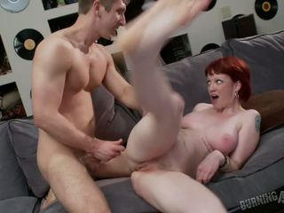 Busty Sidney Has Her Pussy Filled With Cock In Her First Vid