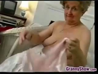 Naughty Grandmother Does A Striptease