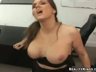 BIh tit whore Elle Cee bent over gettting a deep pussy drilling with thick cock