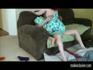 Screwing cheating housewife in her living roo