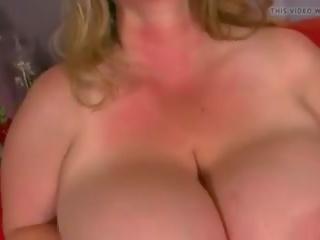BBW Solo: Big Nipples & Big Natural Tits Porn Video