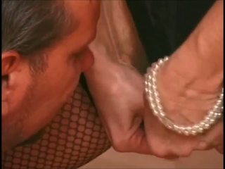 Hairy Granny is Stockings Wakes up His Lazy Ass: HD Porn 36