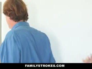 Familystrokes - Blonde Milf Fucks Step-son in Shower