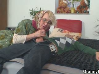 Lonely 70 Years Old Granny Slammed from Behind: HD Porn 50