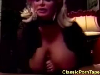 80s Retro Blonde With HUGE Tits