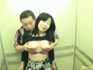 Elevator Shafting Not Far From Sensuous Chinese Milf!
