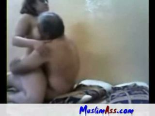 Arab slut fucked by old man