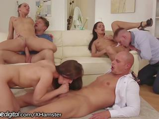Doghouse Hot Euro Orgy with Anal and Facials: Free Porn d0