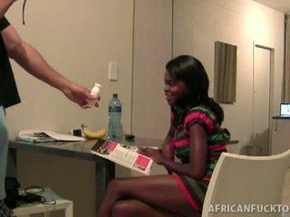 Sex tourist picks up skinny african sex slut lakisha