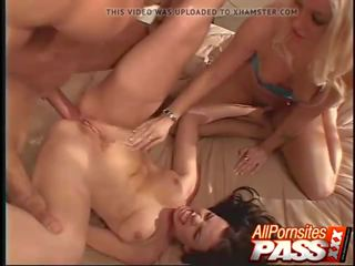 Threesome Ends with Messy Cumshots, Free Porn 3d