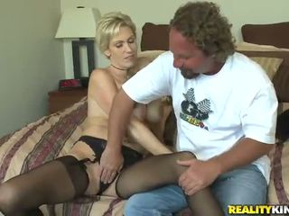 Short Haired Blonde Mom Kasey Grant Has Her Honey Pot Banged Huge