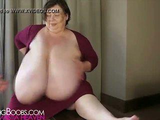 Granny's big boobs grabbed