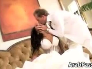 Stunning Busty Arab Bride Riding Cock