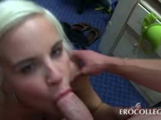 Blonde Slut In College Fucked In Gangbang At Orgy Party