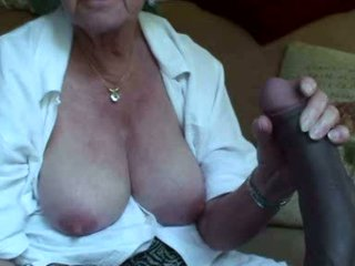 Old Granny Cums Fucking A Dildo And Sucking Coc