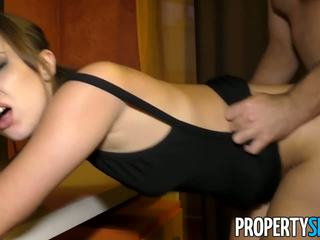 Propertysex - Spanish Babe Fucks American at Flat...