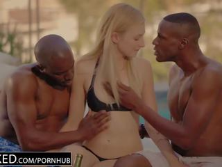 Described Video – ALEXA GRACE FIRST INTERRACIAL THREESOME