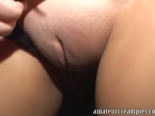 Blond Barbie gets filled up with cum after getting off work