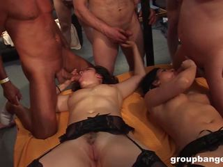 Latina and Blonde Fucked in Groupbang Party: Free Porn 17