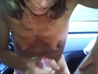 Granny Furiously Strokes His Cock
