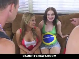 Daughterswap - Hot Daughters Fuck Dads After Losing Bet