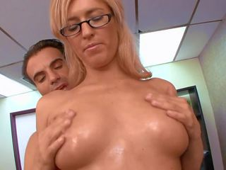 Sex in Office with Horny Blonde, Free HD Porn 45