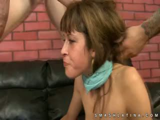 Latina Cutie Gags And Chokes On Dick