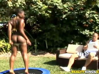 Chocolate Kenya Sweetz pick up a horny white dude