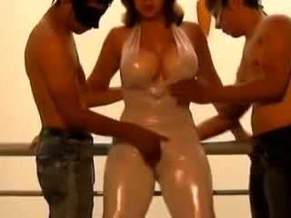 Two Young Guys Seduced by MILF in Catsuit: Free Porn 02