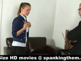 Young secretary punished and spanked