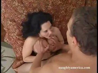 Rockin hot momma Elle Cee enjoys the hot spray of cum on her lusty face