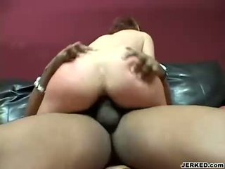Scorching naked Bailey Odare slams hard on a cock until it blows cum on her